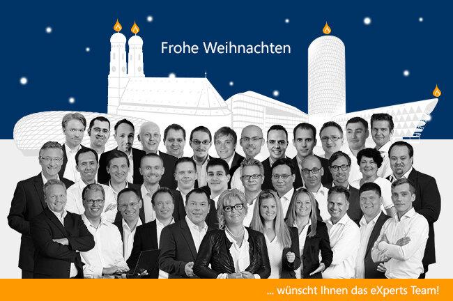 Frohe Weihnachten wünscht Ihnen das eXperts Team!