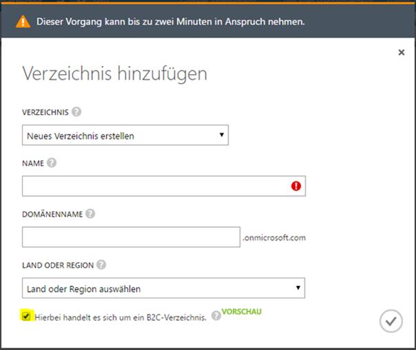 Azure AD B2C anlegen