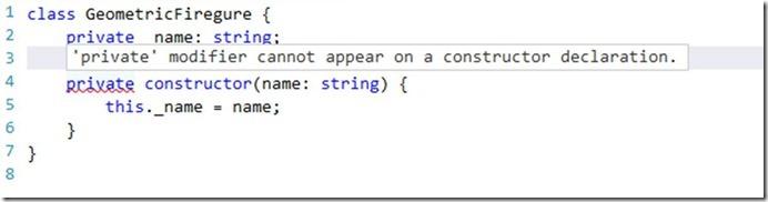 Compilerfehler für private Konstrzuktor (vor TypeScript 2.0)