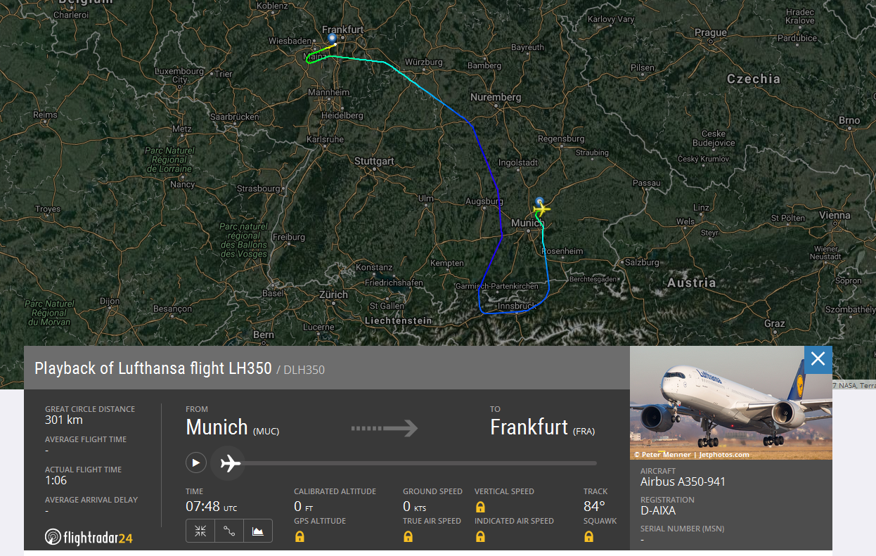LH A350 Flight