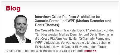 DWX 2017 - SDX Vortrag: Cross-Platform-Architektur für