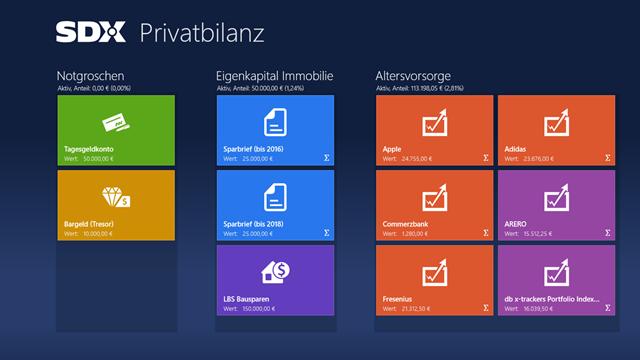 Privatbilanz_Startbildschirm